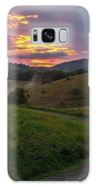 Blue Ridge Sunset Galaxy Case
