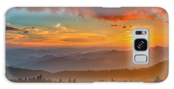 Blue Ridge Sunset Pano Galaxy Case