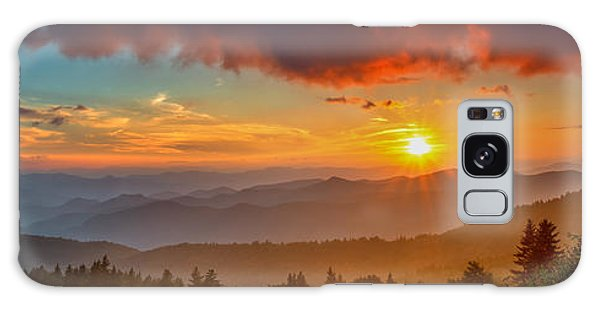 Blue Ridge Sunset Pano Galaxy Case