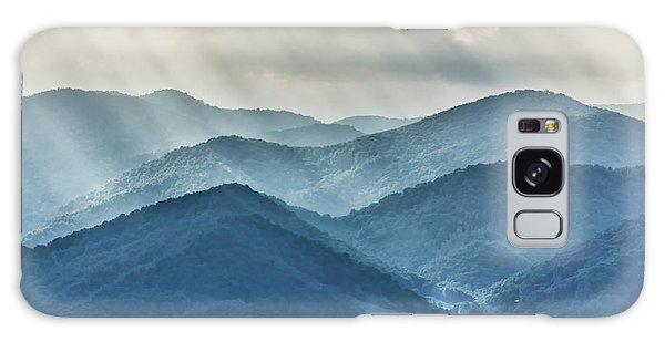 Blue Ridge Sunset Rays Galaxy Case