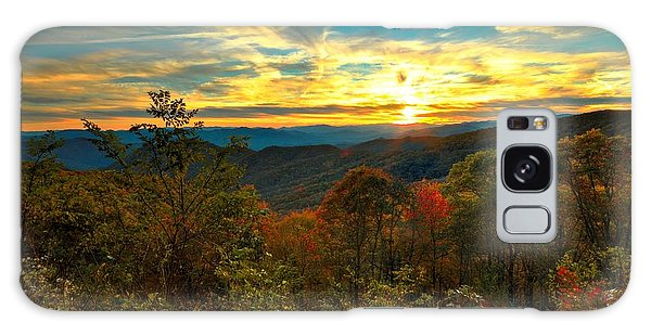 Blue Ridge Sunsets Galaxy Case