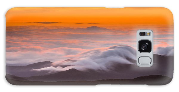 Blue Ridge Valley Of Clouds Galaxy Case