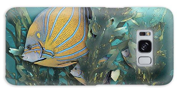 Blue Ring Angelfish In Kelp Galaxy Case