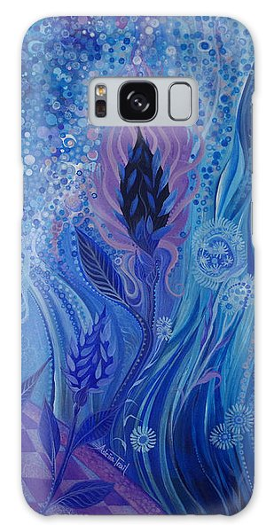 Blue Rosebud Ballroom Galaxy Case