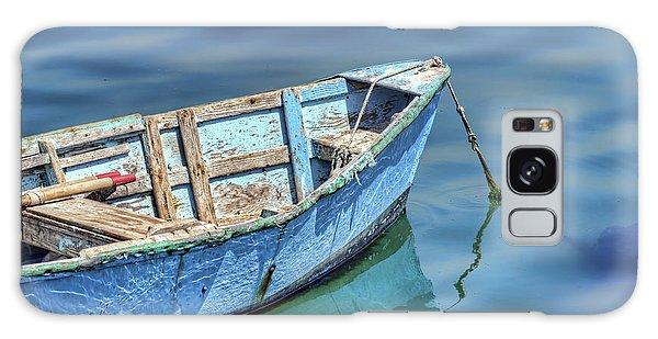 Blue Rowboat At Port San Luis 2 Galaxy Case