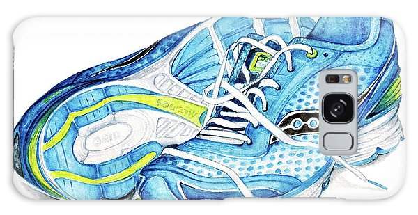 Blue Running Shoes Galaxy Case by Heidi Kriel