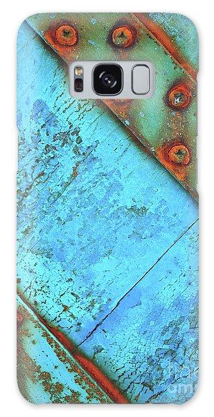 Blue Rusty Boat Detail Galaxy Case by Lyn Randle