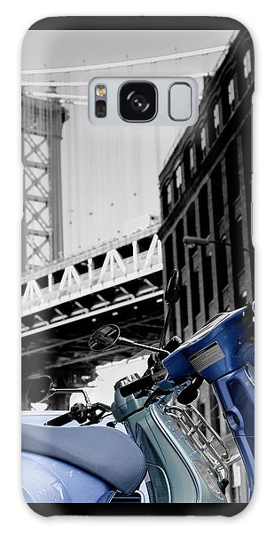 Blue Scooter Galaxy Case by Silvia Bruno