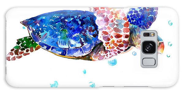 Blue Sea Turtle Galaxy Case