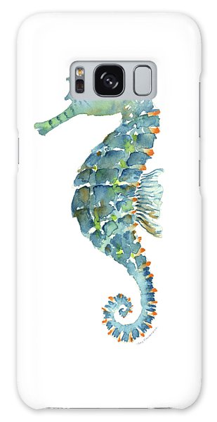 Blue Seahorse Galaxy Case by Amy Kirkpatrick