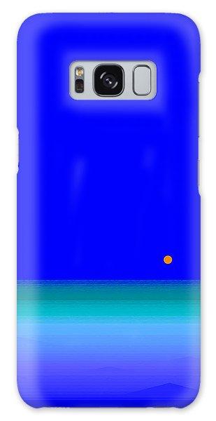 Blue Seas Galaxy Case by Val Arie