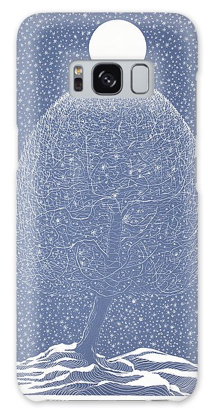 Blue Shadow Tree Galaxy Case by Charles Cater