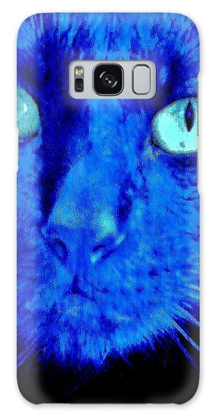 Galaxy Case featuring the photograph  Blue Shadows by Al Fritz