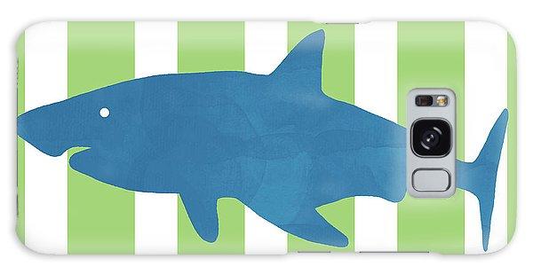 Hammerhead Shark Galaxy Case - Blue Shark 1- Art By Linda Woods by Linda Woods