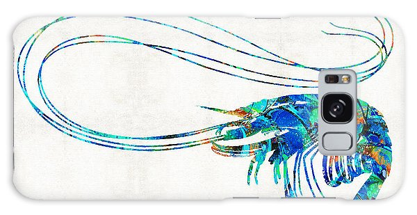 Scuba Diving Galaxy Case - Blue Shrimp Art By Sharon Cummings by Sharon Cummings