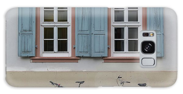 Blue Shutters And Bicycles Galaxy Case