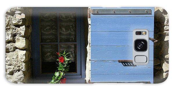 Galaxy Case featuring the photograph Blue Shutters by Rasma Bertz