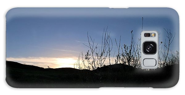Galaxy Case featuring the photograph Blue Sky Silhouette Landscape by Matt Harang