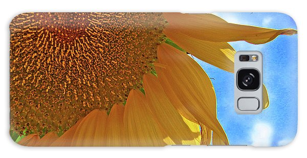 Blue Sky Sunflower Galaxy Case