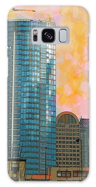 Galaxy Case featuring the photograph Blue Skyscraper Seattle by Yulia Kazansky