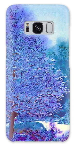 Blue Snow Scene Galaxy Case