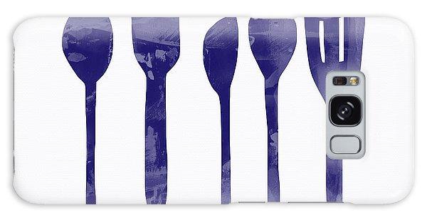 Food Galaxy Case - Blue Spoons- Art By Linda Woods by Linda Woods