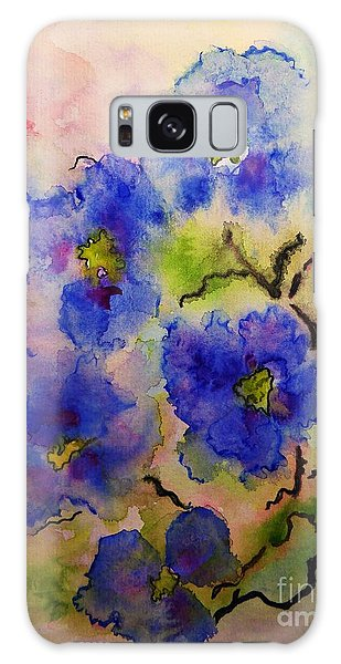 Blue Spring Flowers Watercolor Galaxy Case
