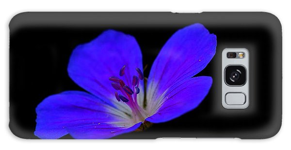 Blue Stamen Galaxy Case