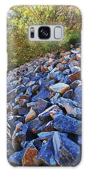 Blue Stone Hill  Galaxy Case