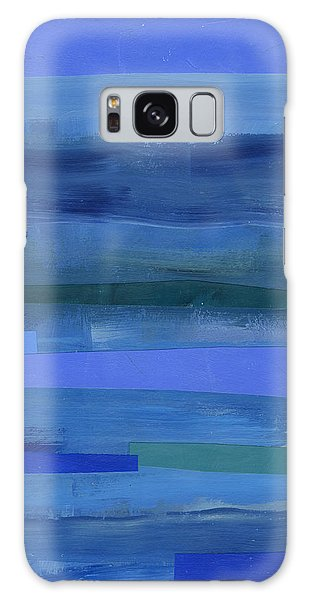 Pattern Galaxy Case - Blue Stripes 1 by Jane Davies