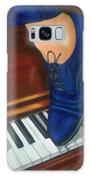Blue Suede Shoes Galaxy Case by Marlyn Boyd