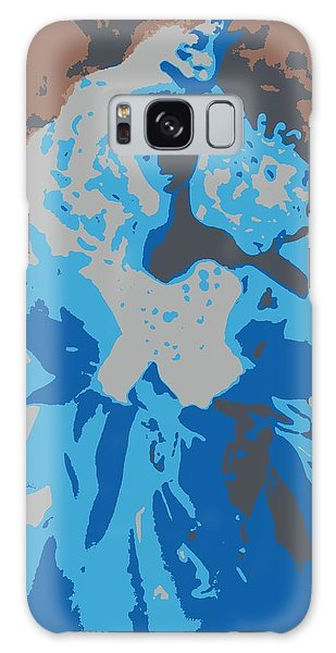 Blue Sunflower Barbie Galaxy Case