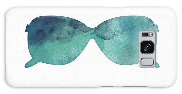 Glass Galaxy Case - Blue Sunglasses 1- Art By Linda Woods by Linda Woods
