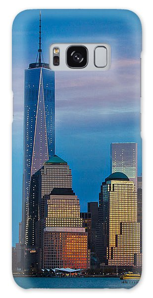 Blue Sunset At The World Trade Center Galaxy Case