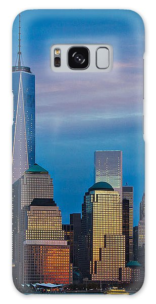 Blue Sunset At The World Trade Center Galaxy Case by Eleanor Abramson