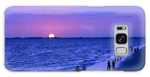 Blue Sunset On The Gulf Of Mexico At Fort Myers Beach In Florida Galaxy Case