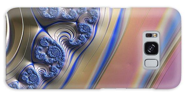 Blue Swirly Fractal 2 Galaxy Case by Bonnie Bruno