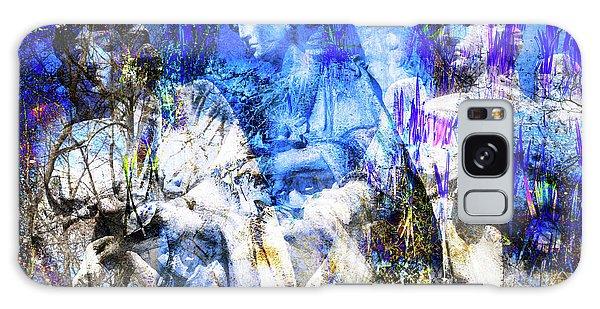 Blue Symphony Of Angels Galaxy Case
