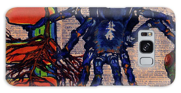 Blue Tarantula Galaxy Case by Emily McLaughlin