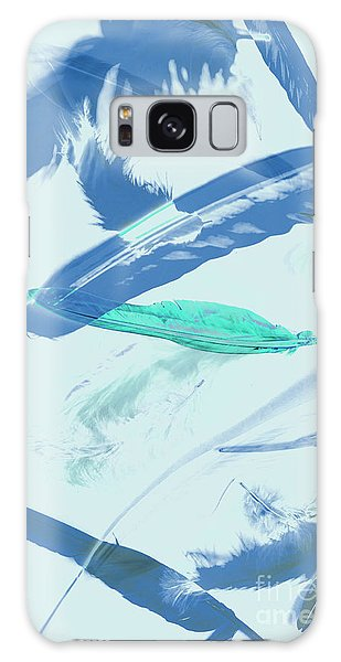 Pattern Galaxy Case - Blue Toned Artistic Feather Abstract by Jorgo Photography - Wall Art Gallery