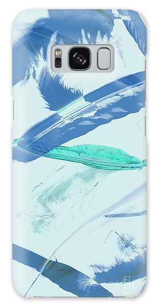 Blue Toned Artistic Feather Abstract Galaxy Case