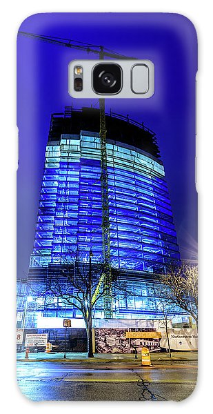 Galaxy Case featuring the photograph Blue Tower Rising by Randy Scherkenbach