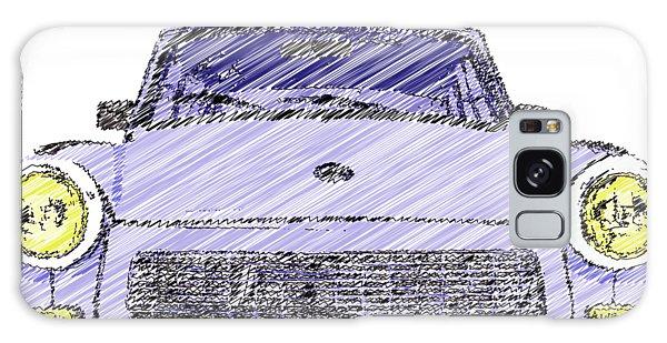 Blue Trabant Galaxy Case