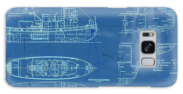 Blue Tugboat Blueprints Galaxy Case by Joseph Hawkins