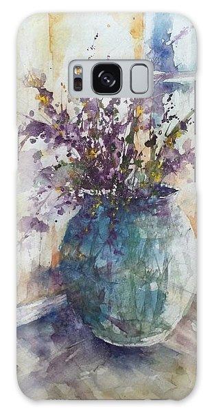 Blue Vase Of Lavender And Wildflowers Aka Vase Bleu Lavande Et Wildflowers  Galaxy Case