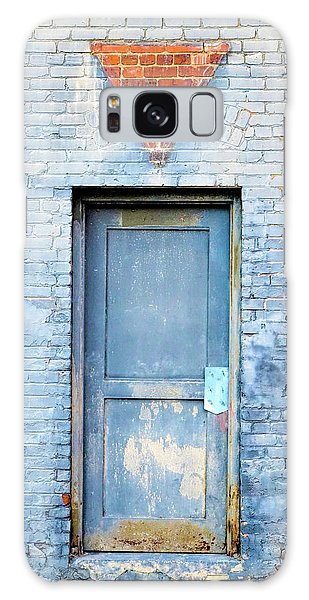 Blue Wall Blue Door Galaxy Case by Denise Beverly