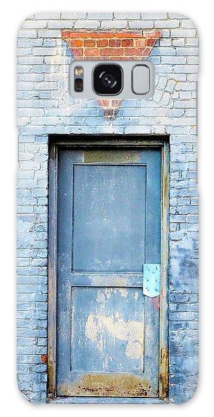Blue Wall Blue Door Galaxy Case by Denise Beverly