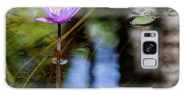 Blue Water Lily Galaxy Case