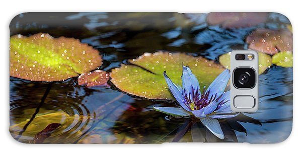 Herbs Galaxy Case - Blue Water Lily Pond by Brian Harig