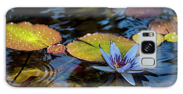 Blue Water Lily Pond Galaxy Case
